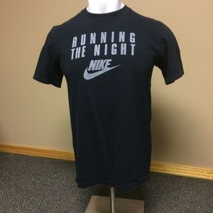 Nike Black Reflective Run the Night Tshirt Large